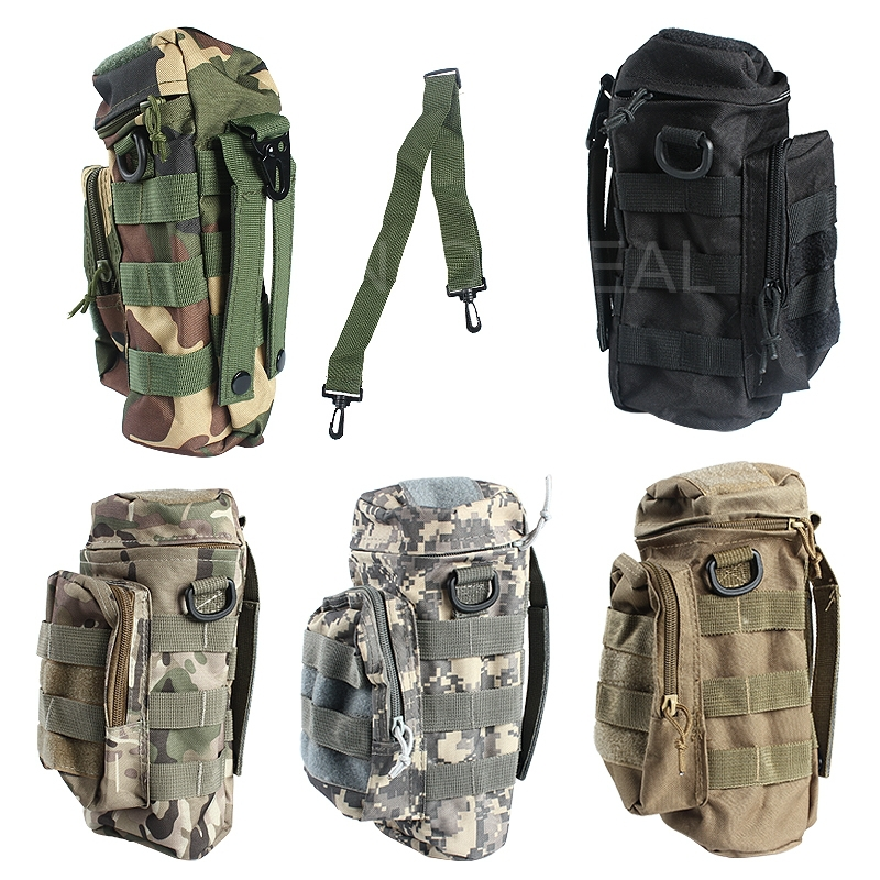 Portable Water Bottle Pouch FOR Climbing Army BAG With Small Mess Pouches H3(China (Mainland))