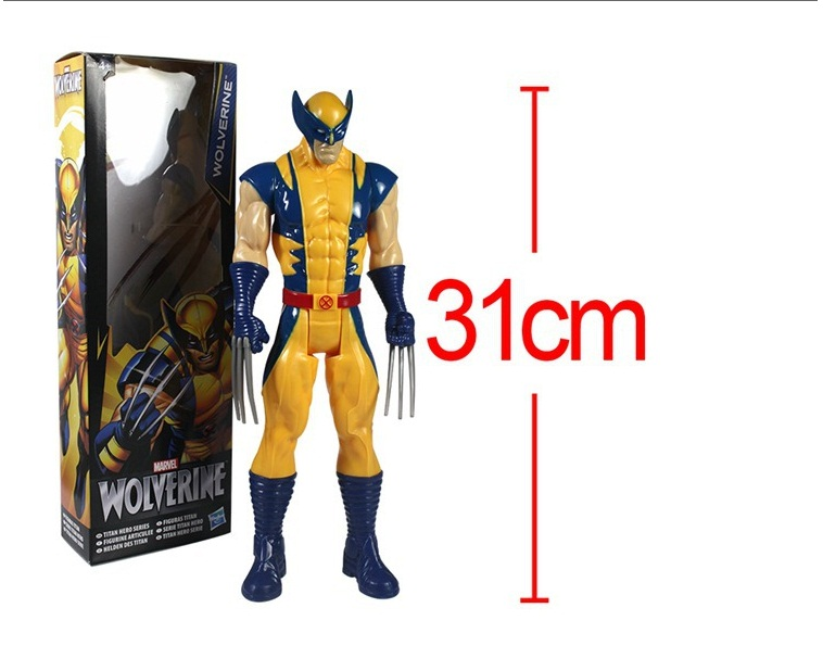 """2015 new Free Shipping Marvel Super Hero X-men Wolverine PVC Action Figure Collectible Toy 12""""31CM with box(China (Mainland))"""
