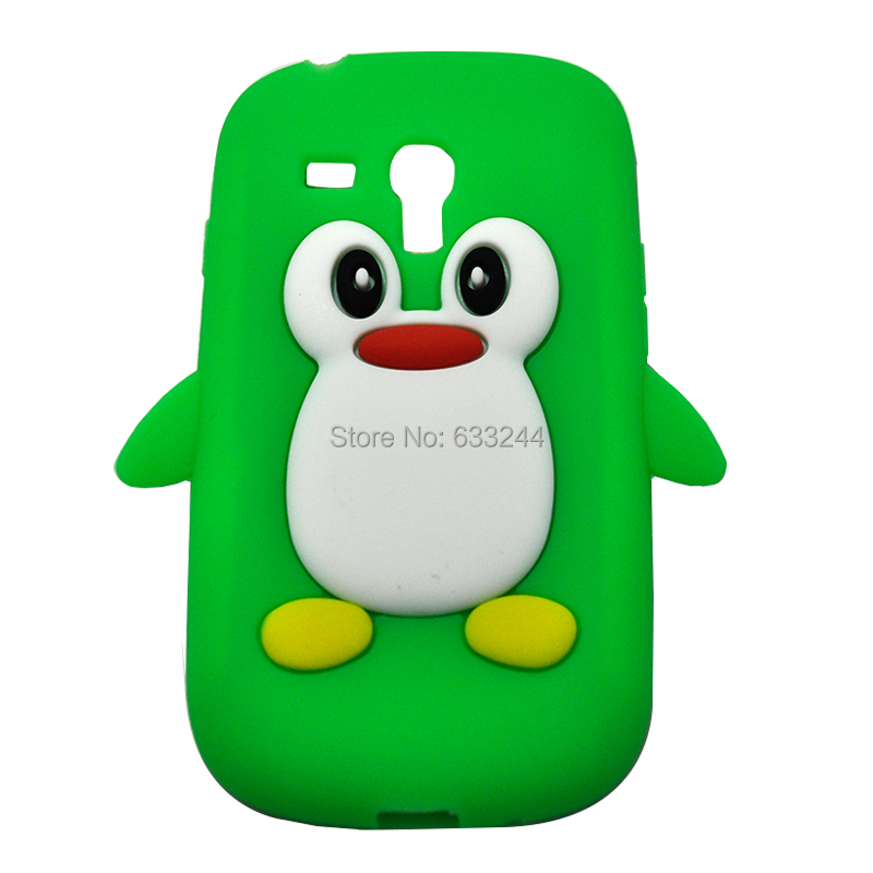 Free shipping for Samsung Galaxy I8190 Young Penguin Soft Silicone Case Back Skin Cover GT(China (Mainland))