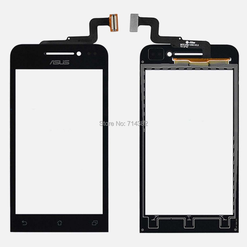For Asus Zenfone 4 New Front Outter Touch Screen Panel Digitizer Glass Lens Sensor Repair Parts Replacement With Track Number(China (Mainland))