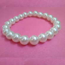 8mm White Imitation Pearl Bracelet Jewelry Hot Sales Fashion Jewelry 2016 New Jewellry for Christmas Thanksgiving Party Gift(China (Mainland))