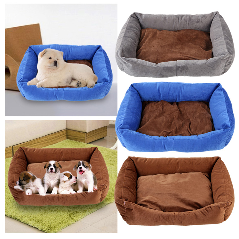 Lovely Pet Dog Cat Bed Warm Winter Cooton Dog Cat House Nest Cozy Soft Pet Cusion Mat Pad Pet Products 42*30cm