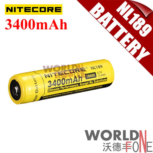 NITECORE NL189 18650 3400mAh 3.7V 12.6Wh Li-ion Rechargeable Battery with PCB Protected for LED Flashlight 10PCS/LOT (WF-RB065)<br><br>Aliexpress