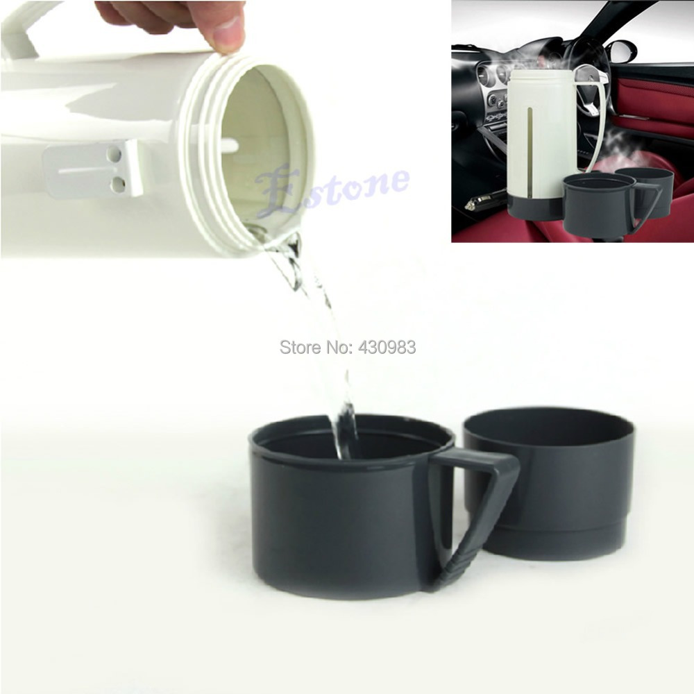Гаджет  1 pc New Portable DC 12V Car Pot Hot Warm Water 100 Celsius Heater Boiling Cup Thermo Mug None Бытовая техника