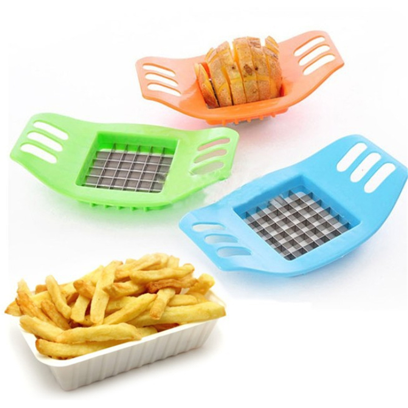 High Quality Stainless Steel Fries Potatoes Cutter Knife Slicing Chopper Kitchen Cooking Tool Vegetable Accessories Products(China (Mainland))