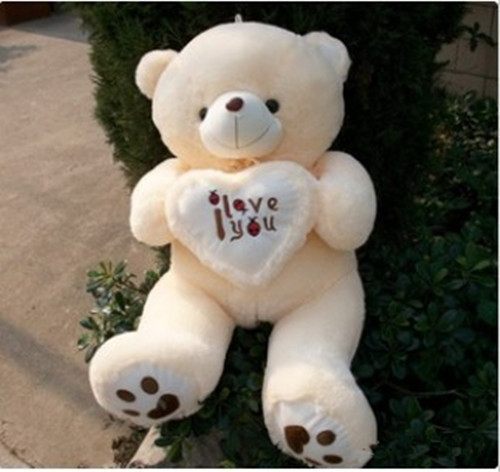 100CM Giant Huge Big Soft Plush White Teddy Bear Halloween Christmas Gift Valentine's Day Gifts(China (Mainland))