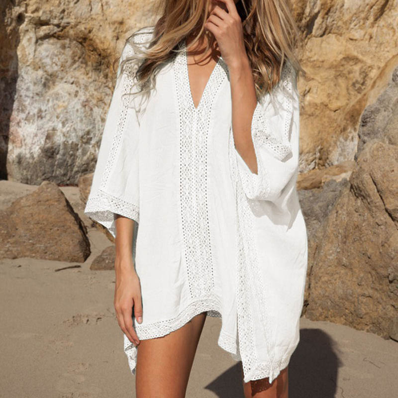 Sexy cover ups include see through lace cover ups or crochet cover ups. Emerge as a scintillating diva you are in a vintage and boho-infused round beach throws and leave a lasting impression. Or, be the center of attraction wearing the beach throws in Arab, Indian, and Mandala inspired designs.