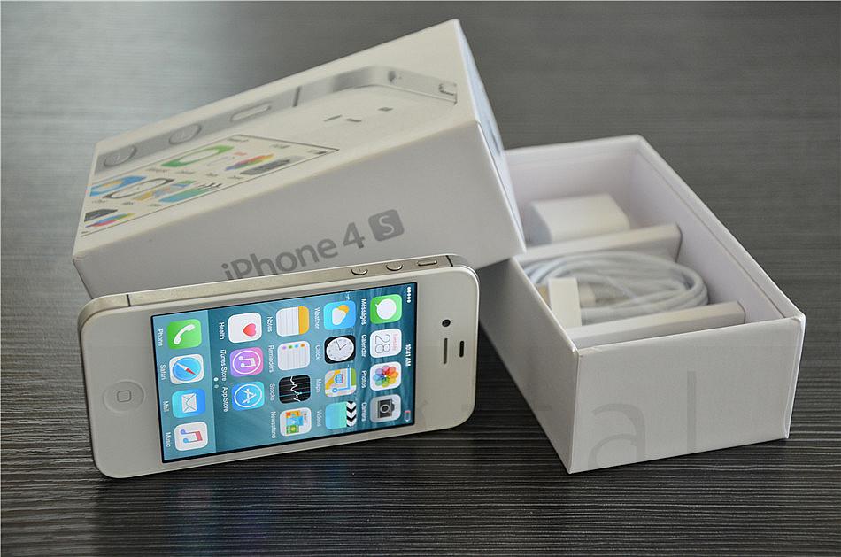"100% Original Apple iPhone 4S Unlocked Phone 16GB/32GB/64GB 3.5""IPS IOS 8 Dual Core 8MP NFC WIFI GPS 3G WCDMA Smart Mobile Phone"