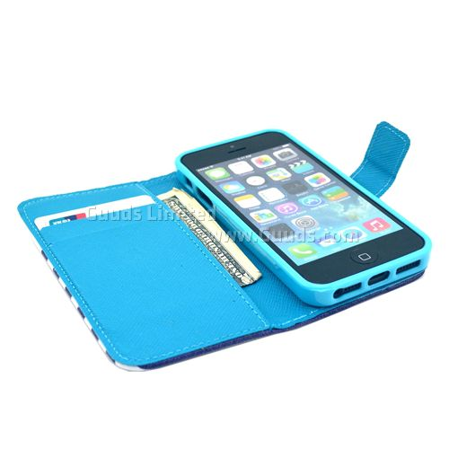 Marshmallow Leather Flip Wallet Case Cover for iPhone 5s / for iPhone 5 FREE SHIPPING