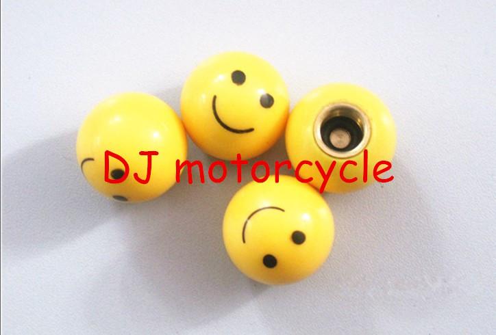 High performance smile design car tyre valve caps Universal tire valve covers for honda motorcycle dirt bike go kart ATV(China (Mainland))
