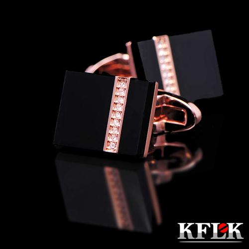 Kflk Deluxe 2017 shirts Cufflinks brand men's Cufflinks Gift rose gold Cufflinks and high quality abotoadura crystal jewelry(China (Mainland))