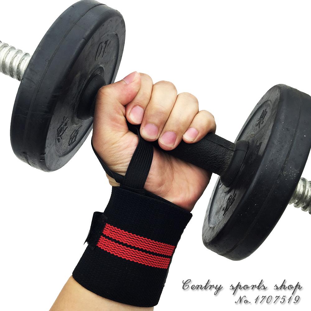 Professional Men Sports fitness Wrist Pads Gym sports training weight lifting Wrist Wraps Bandage Sports wrist spport 2 pcs(China (Mainland))