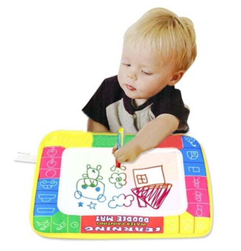 2015 New 29X19cm Children Water Drawing Painting Writing Mat Board & Magic Pen Doodle Toy Christmas Gift Whale(China (Mainland))