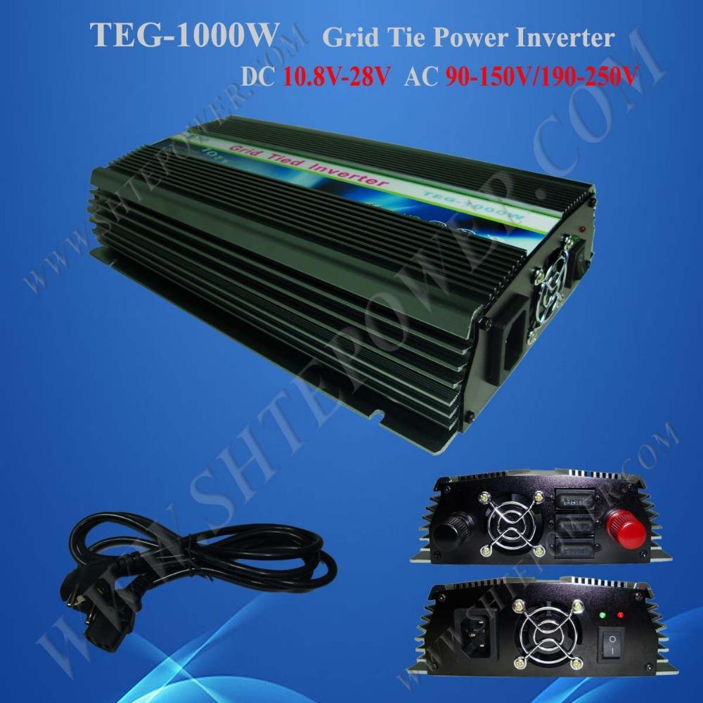 dc ac solar inverter 12v 220v 1kw grid tie inverter(China (Mainland))