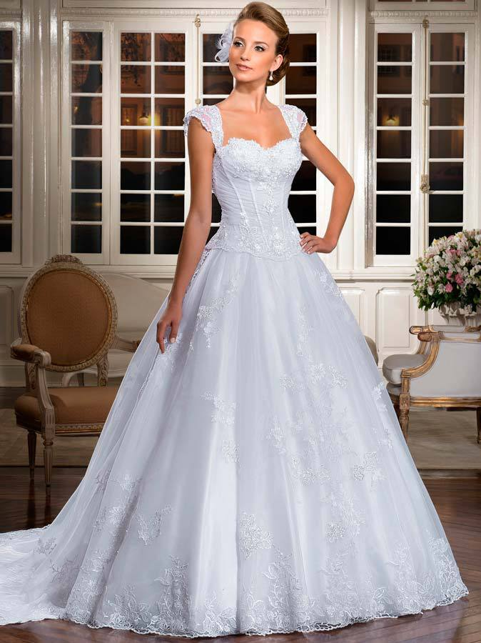 sweetheart neckline lace ball gown wedding dresses 2013 with cap sleeves lt09. Black Bedroom Furniture Sets. Home Design Ideas