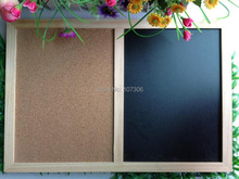 Free accessory nature combination cork board and black board kitchen office supplier 60*90cm factory direct sell home decorative