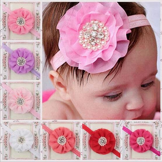15 colors Free Shipping Baby girl's styling tool cute flower headbands hair accessories for kids make they fashion lovely(China (Mainland))