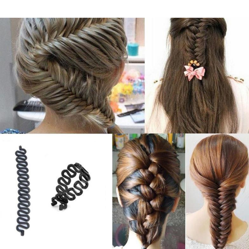1PC Hair Braiding Braider Tool Roller With Magic Hair Twist Styling Bun Maker Women's Barrette Professional Hair Styling Tools(China (Mainland))