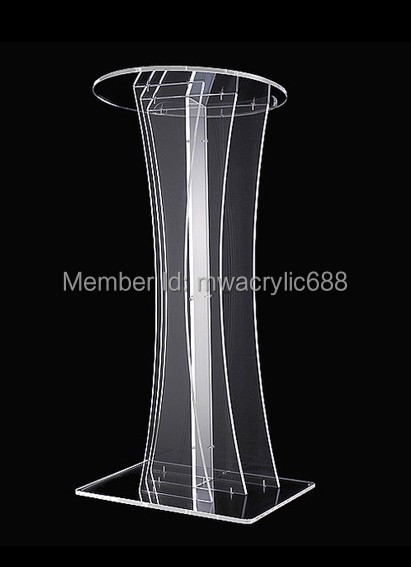 Free Shipping Transparent Modern Design Cheap Clear Acrylic Lectern<br><br>Aliexpress