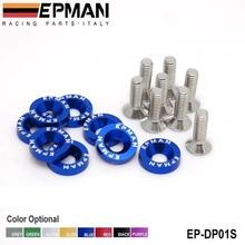 EPMAN 8 TEILE/SATZ JDM Stil Fender Unterlegscheiben Auto Waschmaschine Lizenz-platte Schrauben Kits für CIVIC ACCORD Standardfarbe ist Blau EP-DP01S(China (Mainland))