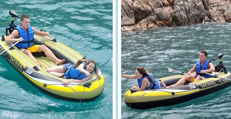 pvc inflatable rafting belly rubber boat kayak canoe fishing pvc/barca hinchable/bateau pneumatique/kayaks/bote inflable/tekne(China (Mainland))