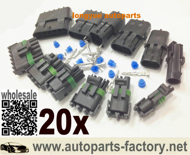 longyue 20set 1-6Pin WeatherPack Sealed Wiring Connector Kit Come With Terminals And Seals NEW<br><br>Aliexpress