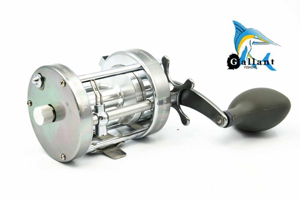 Free shiping balzer brand left hand cl70 drum trolling for Left handed fishing pole