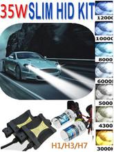 Buy High XENON HID Conversion Kit 12V 35W H1 H3 H7 Lamp Slim Ballast Car Headlight Bulb 4300K 6000K 8000K 30000K for $16.19 in AliExpress store