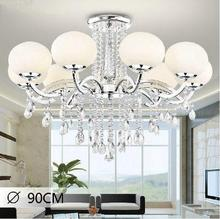 Modern 8 lights K9 crystal chandeliers lustres de cristal lustres lamparas de tech colgantes lighting fixture for living room(China (Mainland))