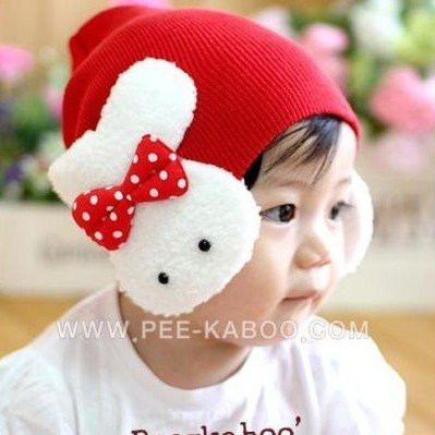 Free shipping Free shipping Big rabbit ear protector cap baby spring hat child hat pocket autumn hat baby hat beanie  retail