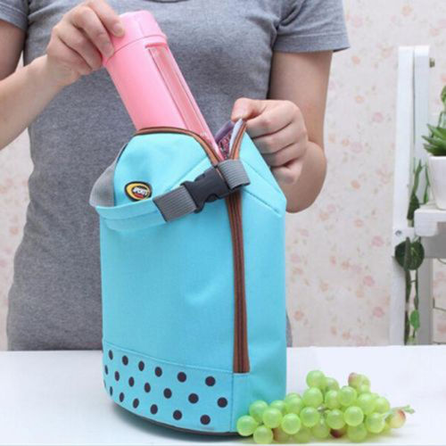 New Fashion Hot Women Portable Insulated Thermal Cooler Lunch Box Carry Bag Travel Picnic(China (Mainland))