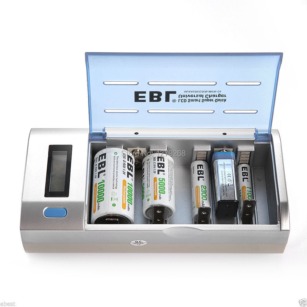 Ebl 906 Universal Charger Lcd Smart Quick Battery Charger