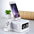Hot Sale Wireless Bluetooth Speaker With Lighting Socket Alarm Clock Function Speaker Free Shipping