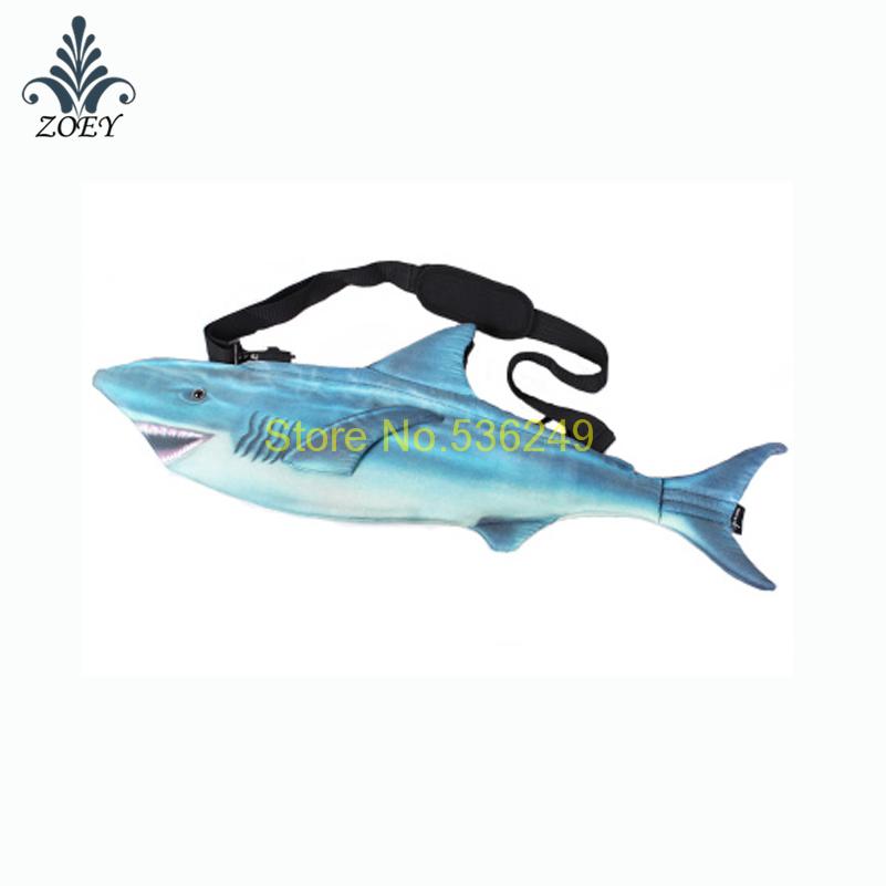 Shark Bag Colorful Seafish Messenger Bag Creative 3D Fish Sling Bag