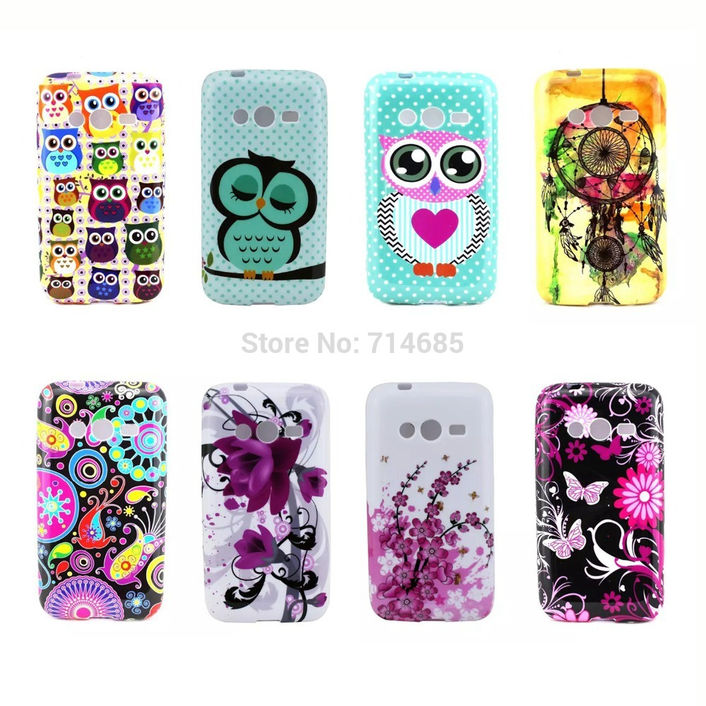 Exclusive Design Lovely Polka Dots Owl Phone Case Samsung Galaxy Ace 4 Lite Neo Duos SM-G313H Trend 2 G318H Cover G313HN - TATUKE Store store