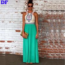 White Bohemian Maxi Dress Fashion Vestidos Largos De Verano Summer Style 2016 Dresses Plus Size Elegant Party XL - Eastdamo Official Store store