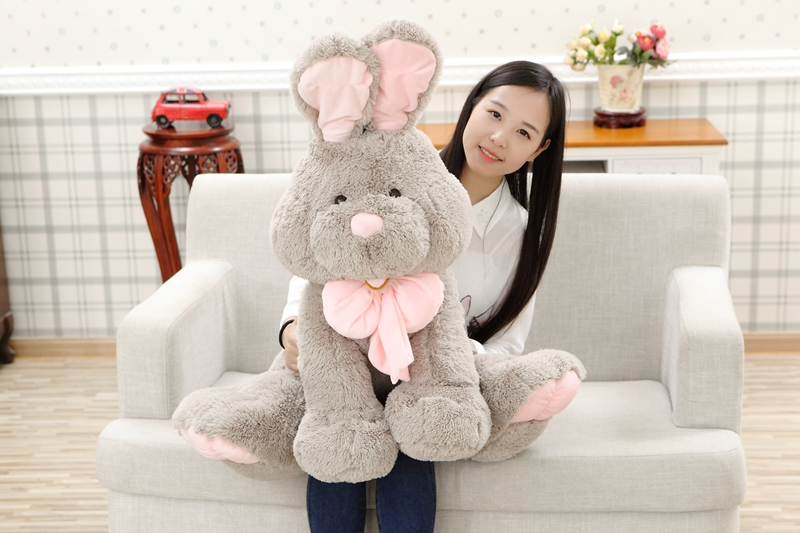 Sales MUST-HAVE 28inch/70cm Super Soft Big Cuddly Plush Costco Bunny Stuffed Rabbit Toy Kid's Friend Gift Giving Freeshipping(China (Mainland))