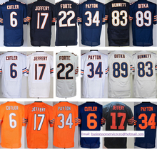 Cheap 6 Jay Cutler 17 Alshon Jeffery 34 Walter Payton 23 Kyle Fuller 26 Tim Jennings 89 Mike Distitched logos top quality(China (Mainland))