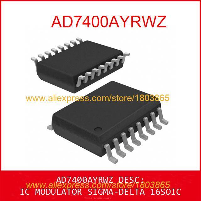 Free Shipping Diy Integrated Circuits AD7400AYRWZ IC MODULATOR -DELTA 16SOIC 7400 AD7400 1pcs(China (Mainland))