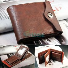 New Men Leather Bifold ID Cards Holder Coin Pocket Bag Slim Purse Wallet Fashion#60441
