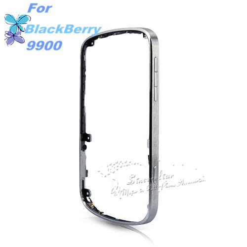 Genuine front Silver Bezel Original For Blackberry BOLD 9900 9930 Housing Frame Buttons Flex With Parts and free shipping(China (Mainland))
