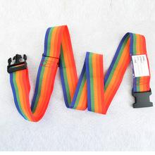 Durable Rainbow Travel Luggage Suitcase Strap Baggage Belt Luggage Secure Safe Belt 2m Gifts Fashion(China (Mainland))