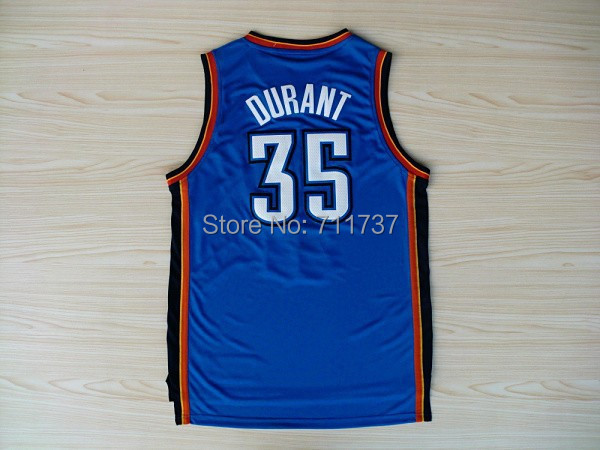 Oklahoma City #35 Kevin Durant Jersey Basketball Jersey Stitched Logo New Material Rev 30 Sports Jerseys Basketball Shirt(China (Mainland))