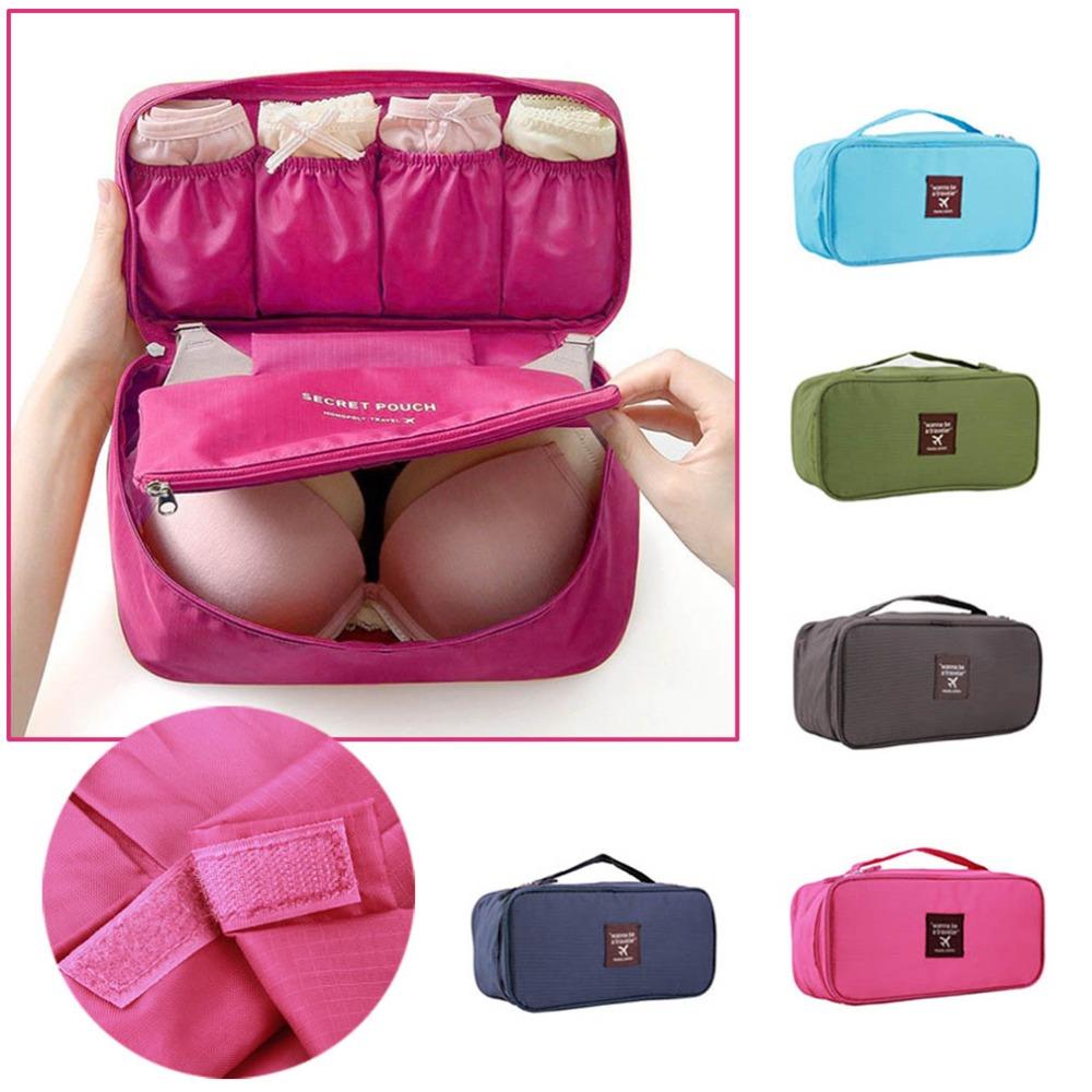 1Pc Bra Underwear Lingerie Travel Bag for Women Organizer Trip Handbag Luggage Traveling Bag Pouch Case Suitcase Space Saver Bag(China (Mainland))