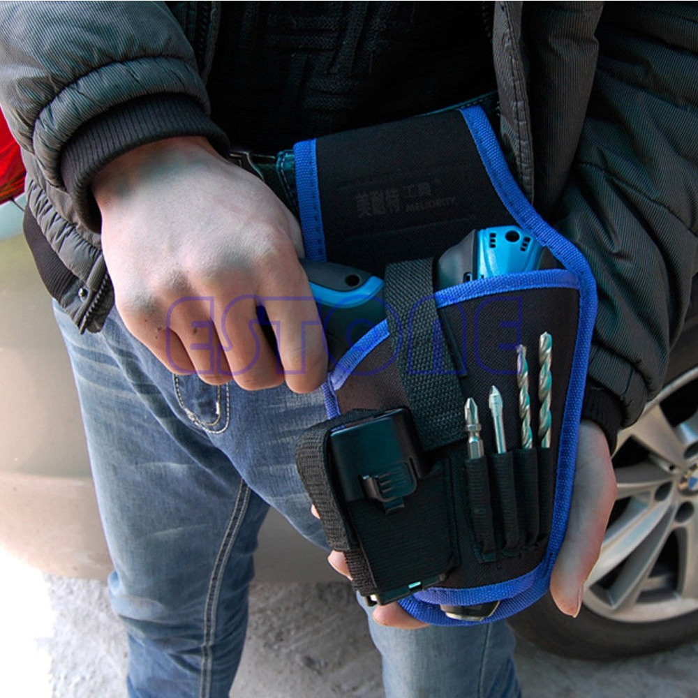 Free shipping Portable Cordless drill Holder Holst Tool Pouch For 12v Drill Waist Tool Bag New