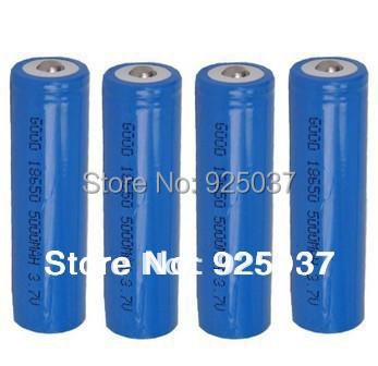 Wholesale 18650 Battery 5000mAh For Led Flashlight,18650 Battery 5000mAh 3.7V Rechargeble Battery 4PCS/LOT