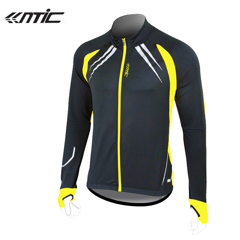 SANTIC Cycling Fleece Thermal Long Jersey Winter Jacket Casual Bicycle Coat Outdoor Bike Jersey Black Yellow/Red 1023Y/R<br><br>Aliexpress