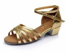 Hot sale new arrival wholesale girls Children/child/kids ballroom tango salsa latin dance shoes low heel shoes 601 203(China (Mainland))