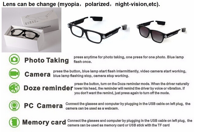 image for Dial Call Smart Glasses GPS Answer Call Smart Electronics Wearable Vid