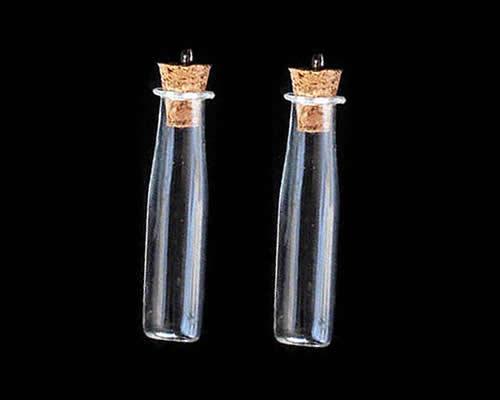 Здесь можно купить  Free shipping!!!Glass Bottle Pendant,Wholesale Lot, with wood stopper & Iron, Column, platinum color plated  Ювелирные изделия и часы